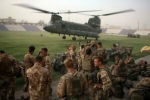 British's 16 air assault brigade in Afghanistan. Photo: Getty Images